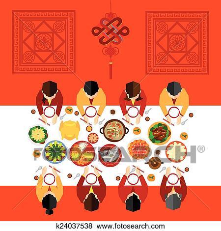 剪贴画 - 中国的新年, 矢量, 设计图片
