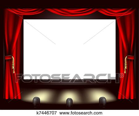 Clip Art Of Cinema Screen K7446707 Search Clipart