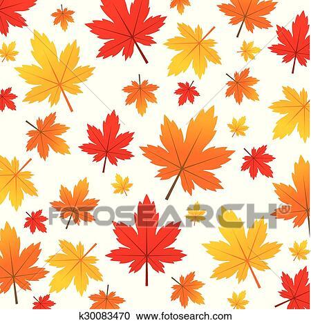 剪贴画 - 秋季树叶, 矢量, 描述图片