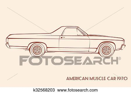Clipart Of American Muscle Car Silhouette Search