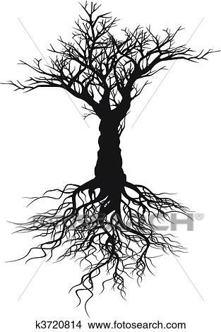 手绘图 - 树, 侧面影象