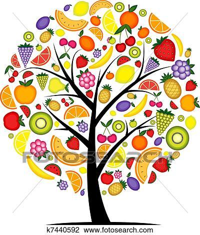 Clipart energia albero frutta per tuo disegno for Clipart frutta