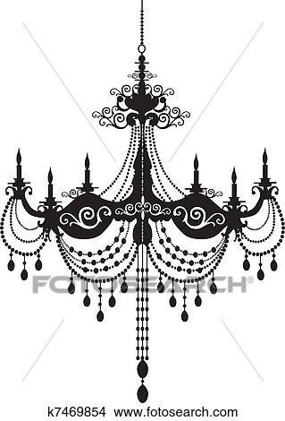 Clipart of chandelier k7469854 search clip art illustration chandelier pattern aloadofball Image collections