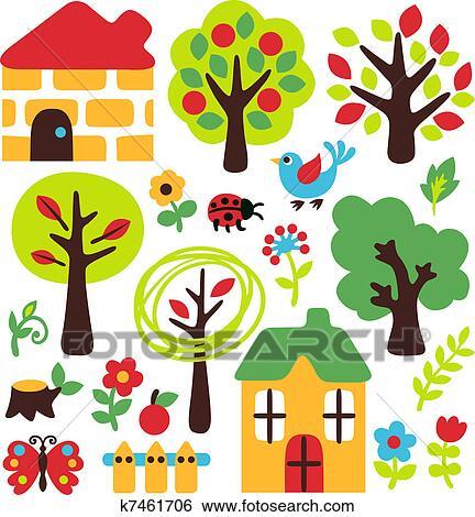 Archivio illustrazioni poco fattoria albero e for Stampe di fattoria gratis