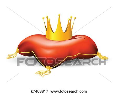 clip art of royal crown on the pillow k7463817 search clipart rh fotosearch com royal clipart png royal clipart border