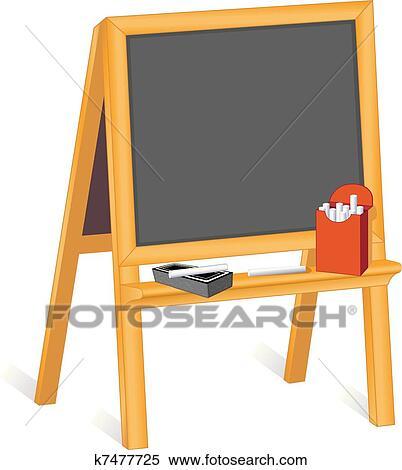 clipart chevalet tableau noir k7477725 recherchez des. Black Bedroom Furniture Sets. Home Design Ideas