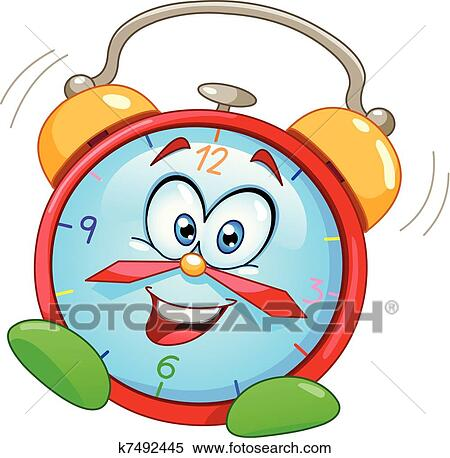clipart of cartoon alarm clock k7492445 search clip art rh fotosearch com fire alarm clipart alarm clipart black and white