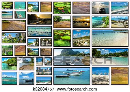 bild mauritius landschaftsbilder collage k32084757 suche stockfotografie fotos drucke. Black Bedroom Furniture Sets. Home Design Ideas
