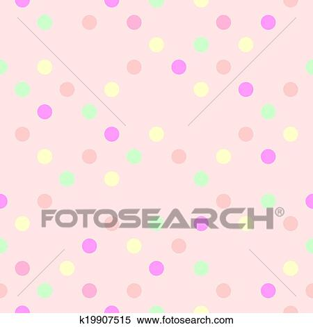 Clipart of tile pink polka dots background k19907515 search clip clipart tile pink polka dots background fotosearch search clip art illustration murals voltagebd Choice Image