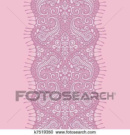 Clipart Of Pink Lace Ribbon Seamless K7519350 Search Clip Art