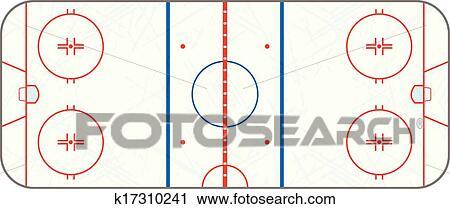 Clipart vecteur patinoire hockey glace patin marques k17310241 recherchez des clip - Dessin patinoire ...