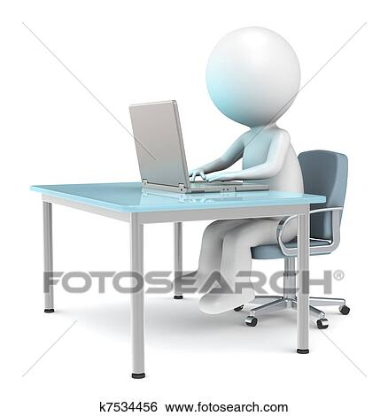 Büroarbeitsplatz clipart  Stock Images of At the desk k7534456 - Search Stock Photography ...