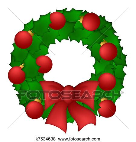 Christmas wreath Illustrations and Clip Art. 1,794 christmas ...