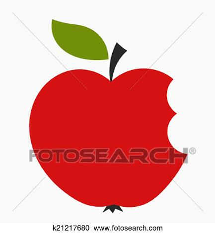 Clipart of Apple bite k21217680 - Search Clip Art, Illustration ...