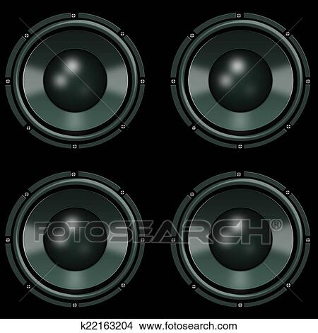 music speakers clipart. drawing - speakers wallpaper for music. fotosearch search clip art illustrations, wall posters music clipart