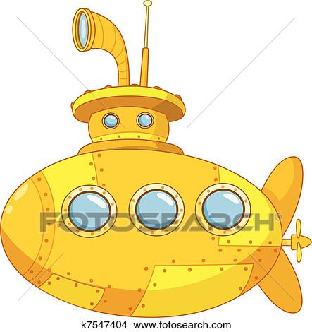 Clipart of Submarine k...
