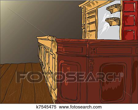Clipart Let The Old Bar Table Fotosearch Search Clip Art Ilration Murals