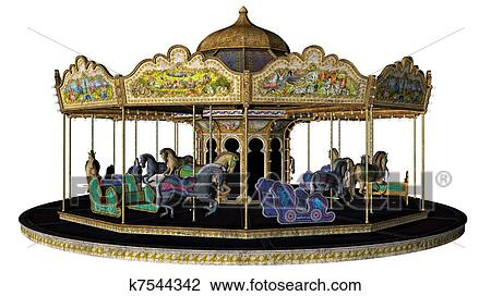 clip art of vintage carousel merry go round k7544342 search rh fotosearch com carousel clipart black and white carrousel clipart free