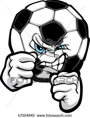 clipart of fighting soccer ball vector illustr k7554945 search rh fotosearch com soccer ball vector clip art free soccer ball vector clip art free