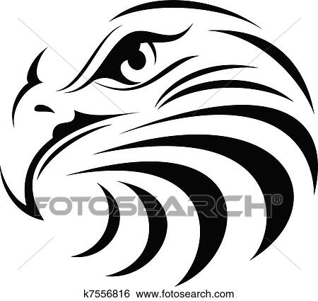 Clipart of Graphic Head of a Bald Eagle Mascot Vector Illustration ...