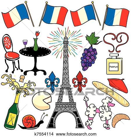 clipart of paris france clipart elements icons k7554114 search rh fotosearch com france clip art free france clipart png