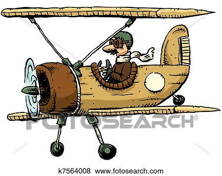 how to draw a ww1 plane