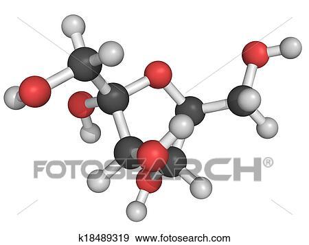 stockillustration kemisk struktur i fructose k18489319 s g i vector clipart tegninger. Black Bedroom Furniture Sets. Home Design Ideas
