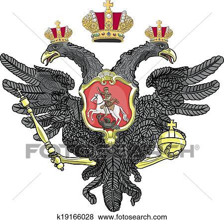 Das Wappen Der Russischen Foderation Vektor Abbildung - Bild: 62449938