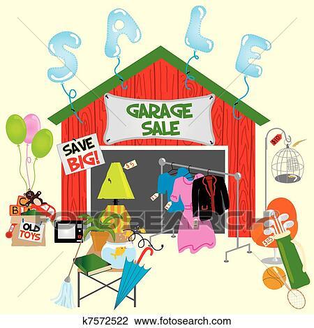 Clip Art Garage Sale Clipart garage sale clipart vector graphics 1756 eps clip sale