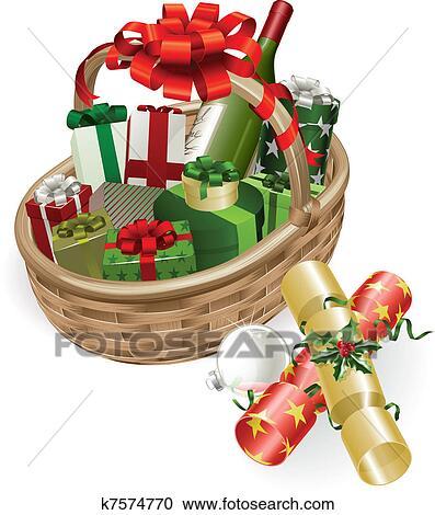 clipart weihnachten korb abbildung k7574770 suche. Black Bedroom Furniture Sets. Home Design Ideas