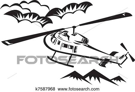 Chopper Helicopter Drawing K7587968.jpg