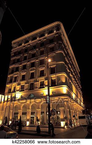 jurin韩国_图片银行 - 旅馆, 在以前, 夜晚, aleppo, 叙利亚