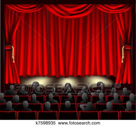 Clipart Of Theatre With Audience K7598935 Search Clip