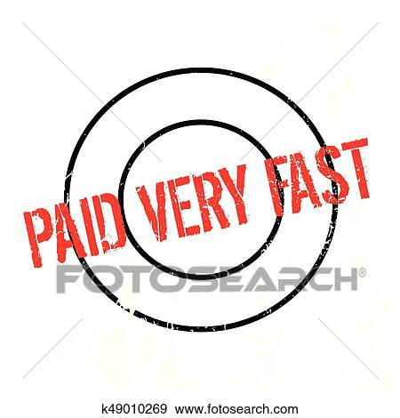 clip art of paid very fast rubber stamp k49010269 search clipart rh fotosearch com plaid clipart paid clipart stamp