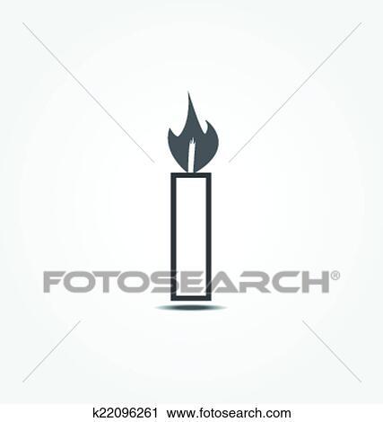 clipart kerze symbol vektor abbildung k22096261 suche clip art illustration wandbilder. Black Bedroom Furniture Sets. Home Design Ideas