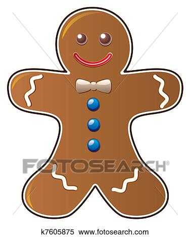 Clipart of gingerbread cookie k7605875 - Search Clip Art ...