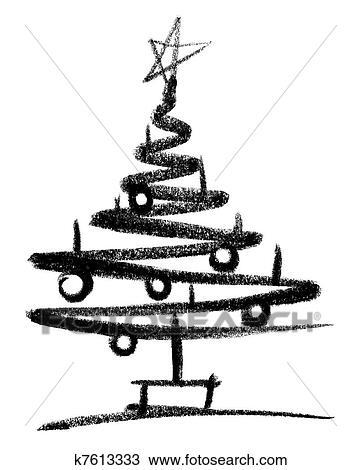 zeichnung weihnachtsbaum skizze k7613333 suche. Black Bedroom Furniture Sets. Home Design Ideas