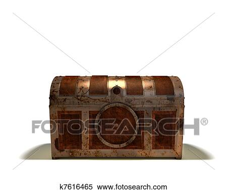 Stock Image of Treasure Chest Closed k7616465 - Search ...