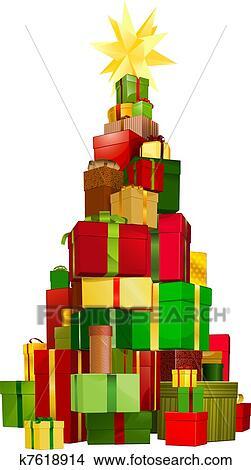 clipart weihnachtsbaum geschenke k7618914 suche clip. Black Bedroom Furniture Sets. Home Design Ideas