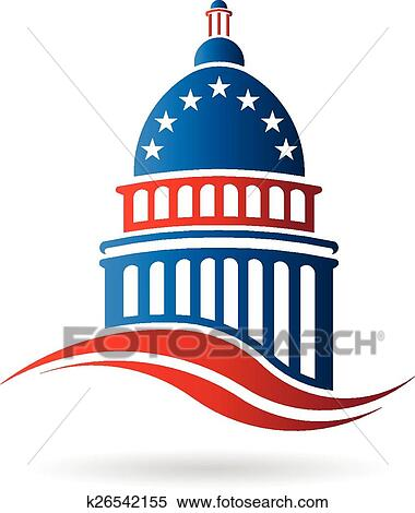 clipart of capitol building in red white and blue k26542155 search rh fotosearch com  us capitol building clipart