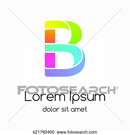 Clipart of Logo letter B company vector design template. k21792400 ...