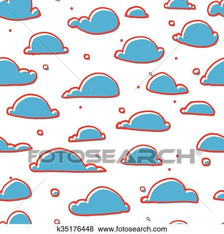Cute cloud pattern