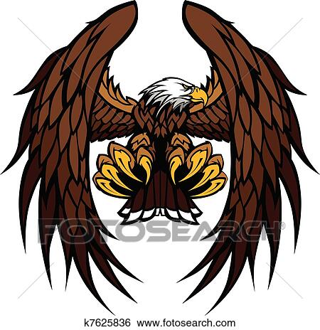 Clip Art of Eagle Wings and Claws Mascot Vector k7625836 ...