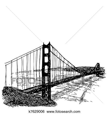 Clip Art Of Golden Gate Bridge K7629006 Search Clipart