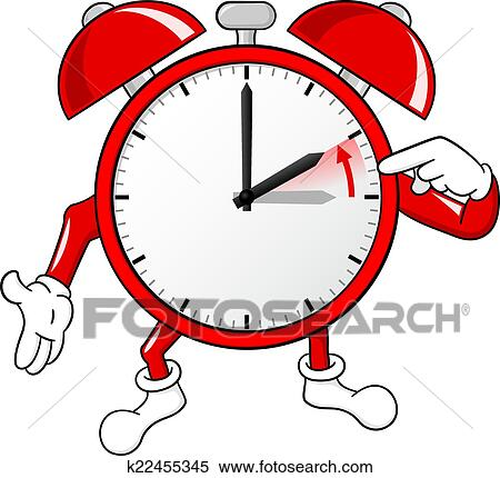 clipart of alarm clock change to standard time k22455345 search rh fotosearch com time change clip art 2018 fall time change clipart