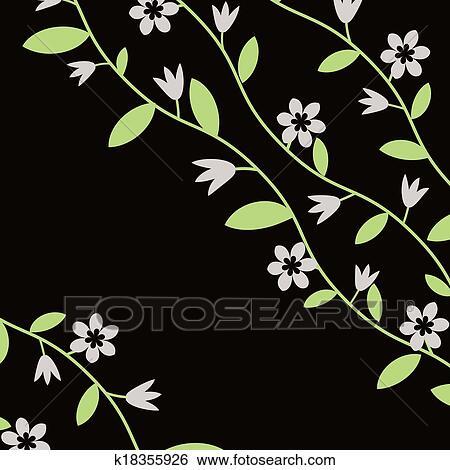剪贴画 - 植物群, 背景