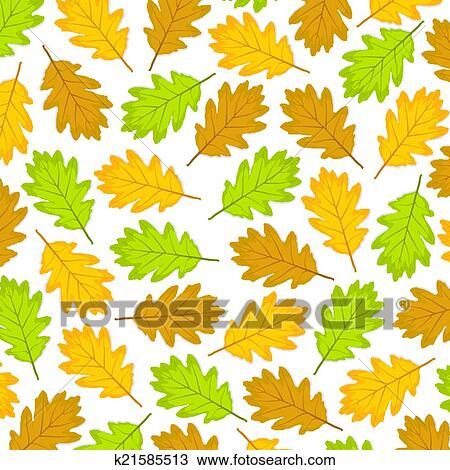剪贴画 - 秋季树叶, 在中, 橡木图片