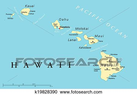 hawaii map of islands