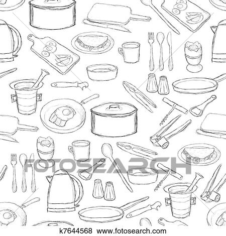 Kitchen Equipment Drawing Clip Art Kitchen Equipment