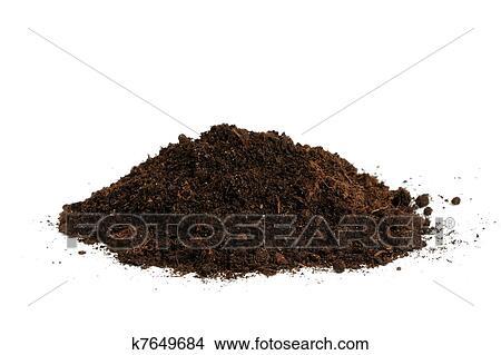 Stock Photo Of Pile Soil Isolated On White Background K7649684